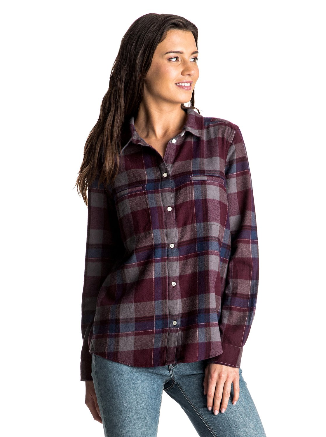 Campay Long Sleeve Flannel Shirt Arjwt03128 Roxy