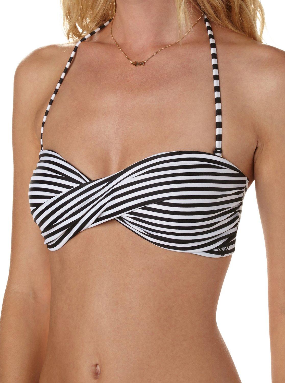 fd914e5500eb9 2 Sunset Stripe Twist Bandeau Bikini Top ARJX300065 Roxy