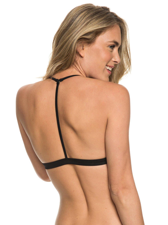 5acafb5da4ce8 4 Printed Strappy Love Reversible Fixed Tri Bikini Top Black ARJX303357 Roxy