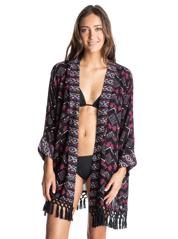 25a43cfbaa9a0 0 Traveling Gypsy Kimono Cover Up ARJX603060 Roxy