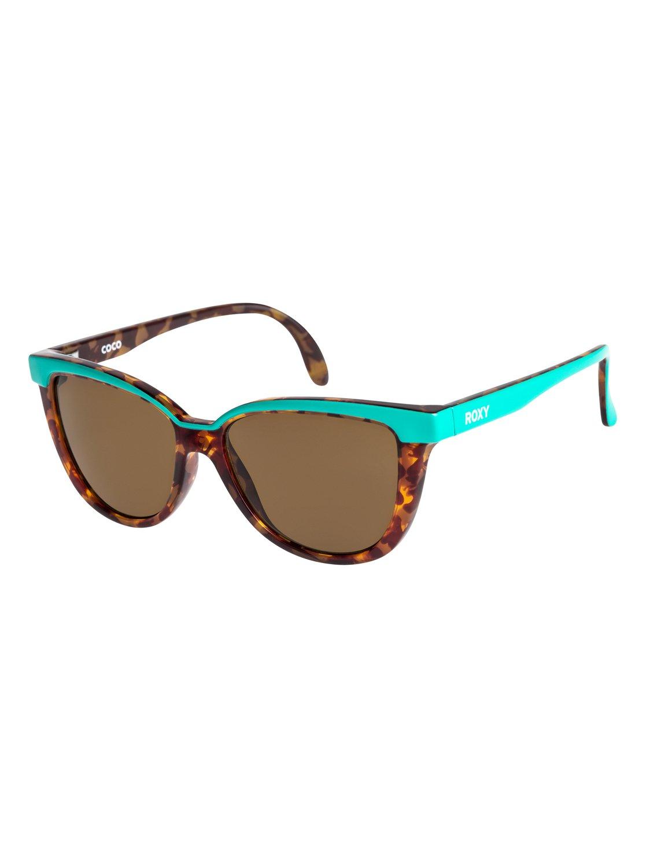 0 Coco - Gafas de Sol para Chicas 8-16 Verde ERG6016 Roxy 63fcd858771c