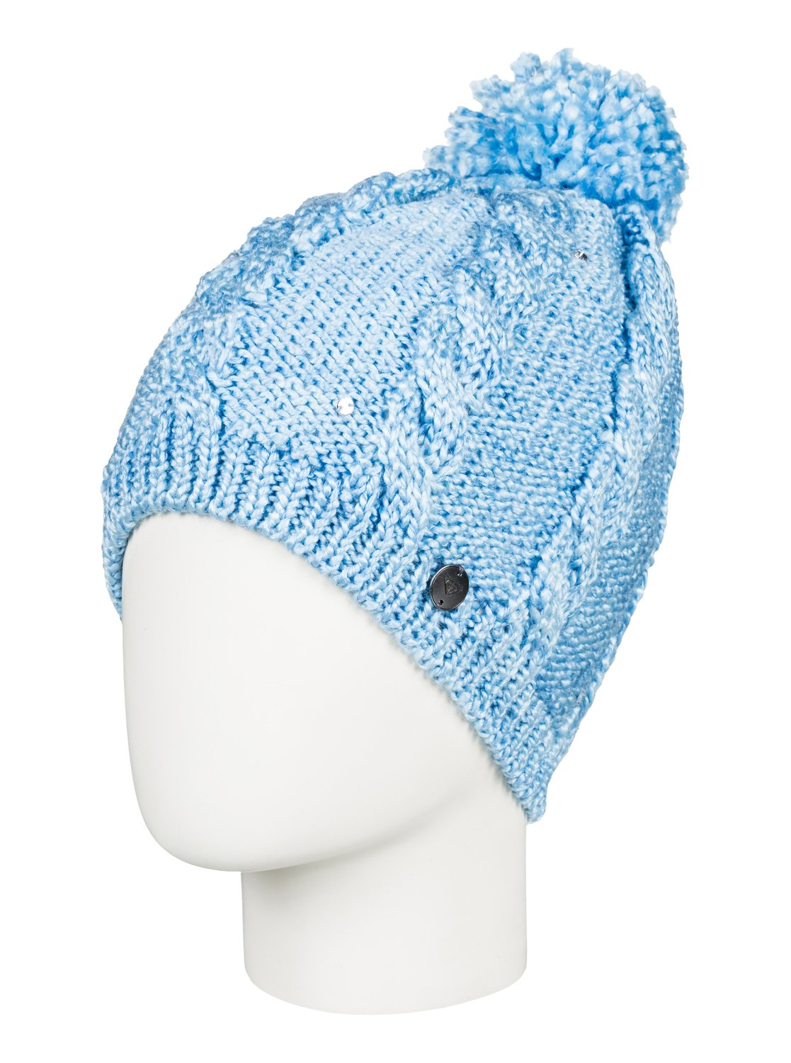 0 Girl s 7-14 Shooting Star Pom-Pom Beanie Blue ERGHA03108 Roxy c81c0925a14