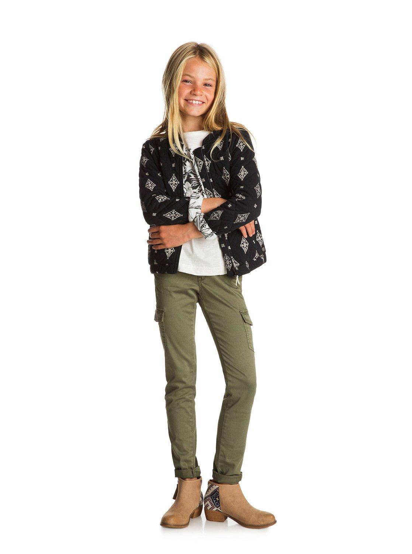 Girls 7-14 Time To Know Cargo Pants Ergnp03020  Roxy-3129