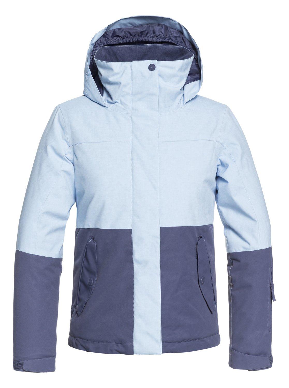 539b30144b 0 ROXY Jetty Block - Snow Jacket for Girls 8-16 Blue ERGTJ03059 Roxy