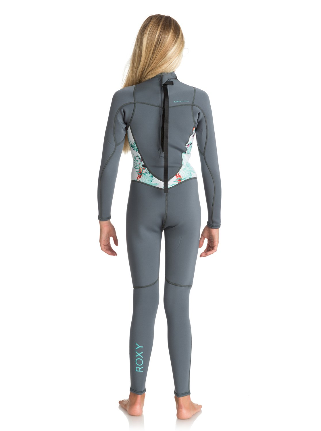 ad4f4dfdc6 1 Girl s 7-14 3 2mm Syncro Series Back Zip Wetsuit Blue ERGW103012 Roxy