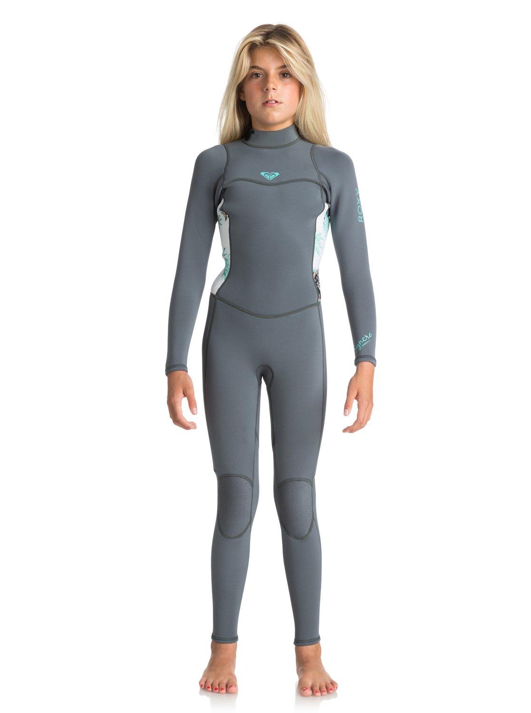 3c89c1e4b8 0 Girl s 7-14 3 2mm Syncro Series Back Zip Wetsuit Blue ERGW103012 Roxy