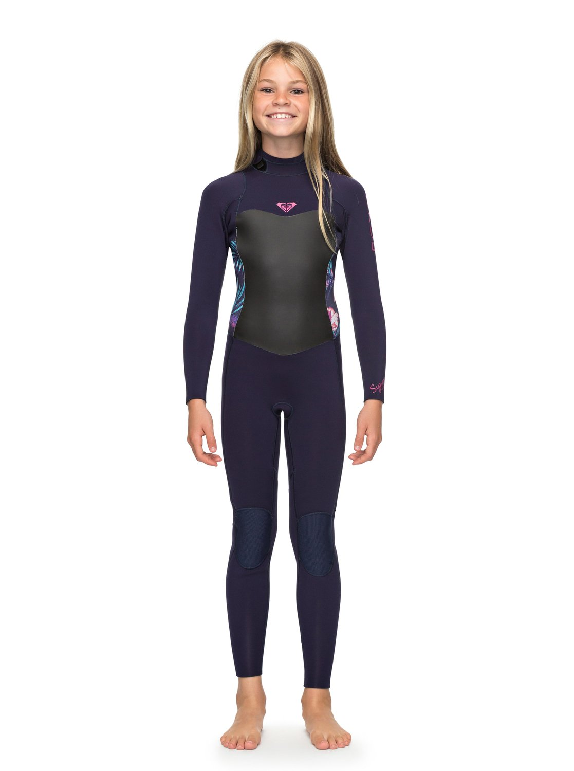 0 Girl s 7-14 3 2mm Syncro Series Back Zip GBS Wetsuit Blue ERGW103013 5837bd711