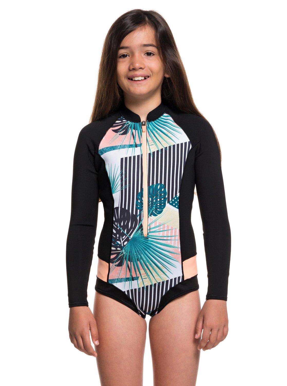 0 Girl s 7-14 1mm POP Surf Long Sleeve Cheeky Cut Springsuit Black  ERGW403007 Roxy e0801b48f