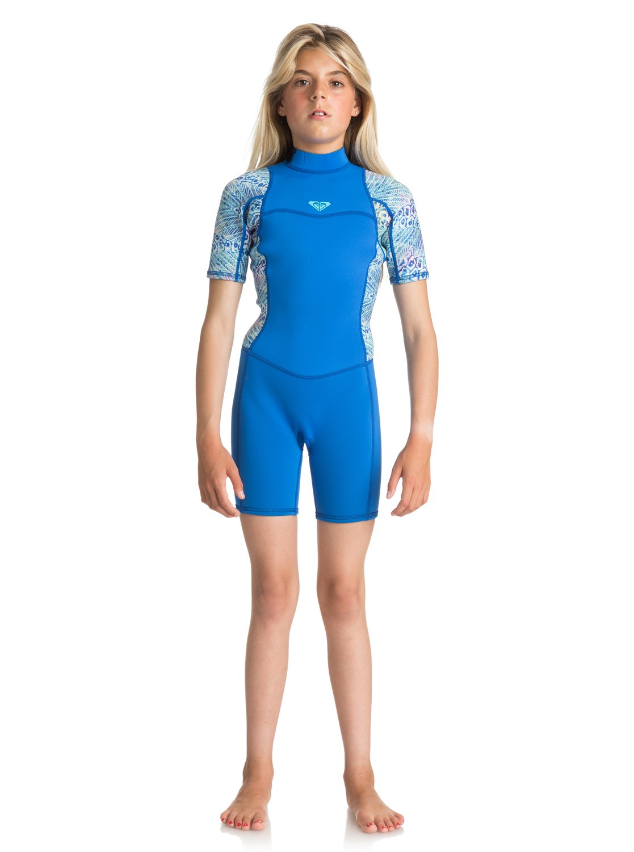 dfb5398b58315 2 2mm Syncro Series - Short Sleeve Back Zip FLT Springsuit for Girls ...