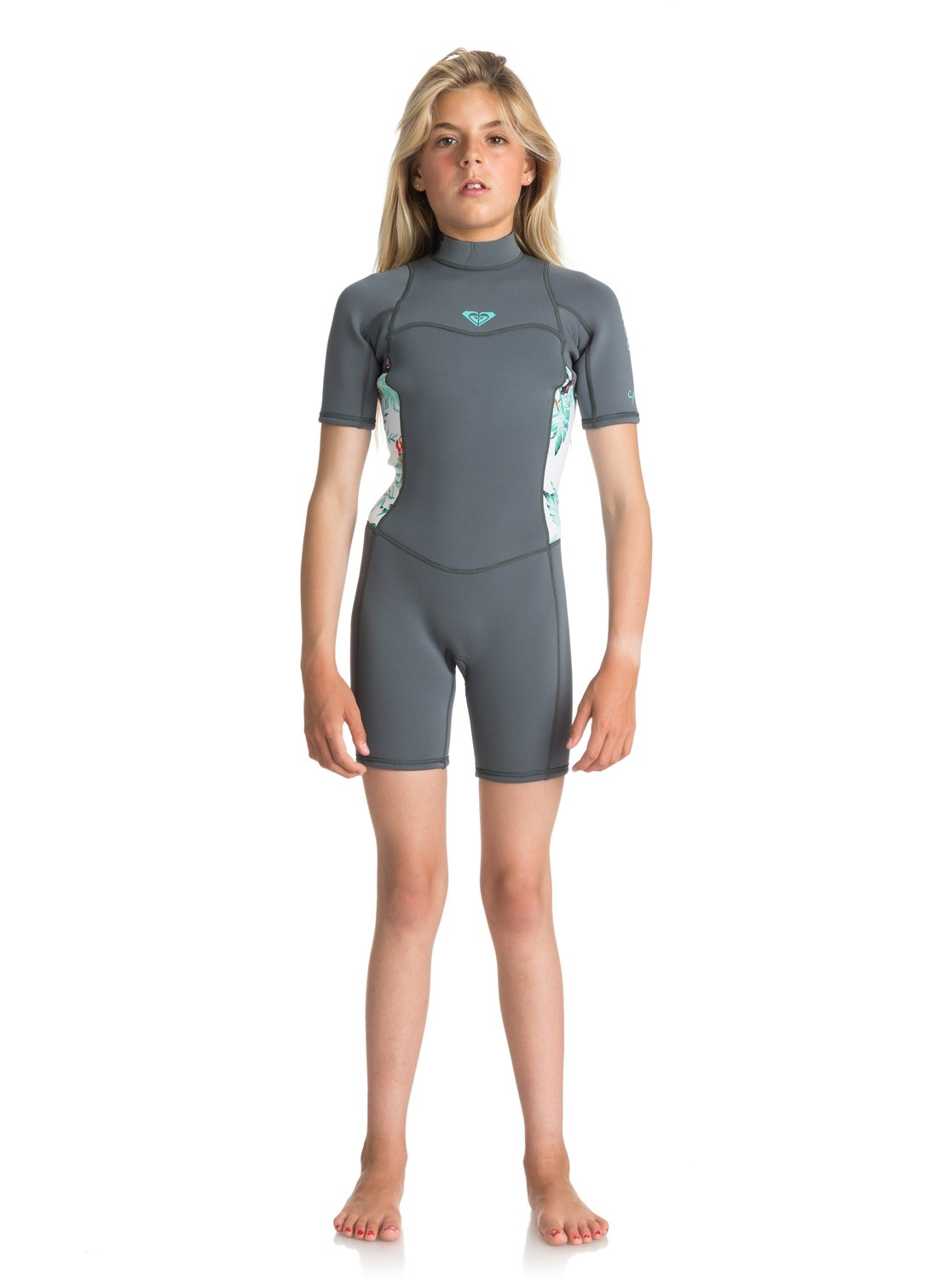 810fa82f98 0 2 2mm Syncro Series - Short Sleeve Back Zip FLT Springsuit Blue  ERGW503004 Roxy