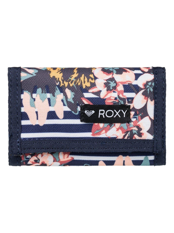 Small Beach Zweifach faltbare Brieftasche für Frauen Blau Roxy Roxy ...