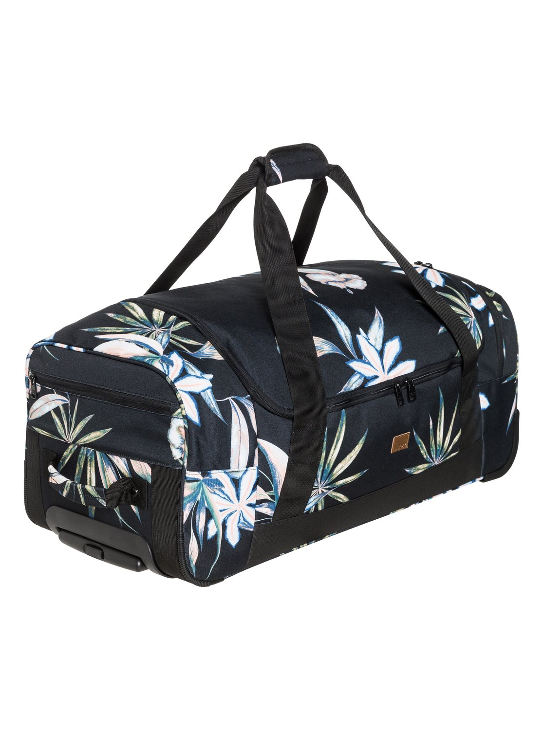 f095ae3a9a 2 Distance Across 60L Large Wheeled Duffle Bag Black ERJBL03137 Roxy