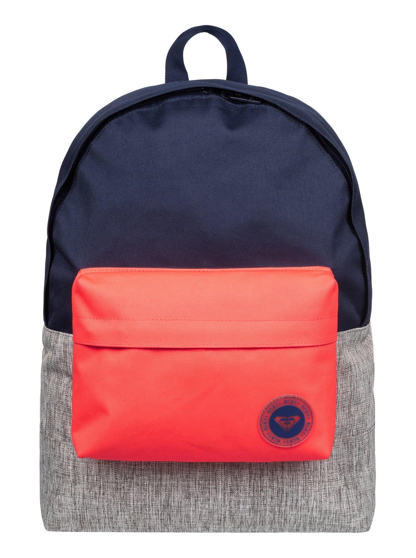 d45c02469520 0 Sugar Baby Colorblock - Medium Backpack Blue ERJBP03263 Roxy