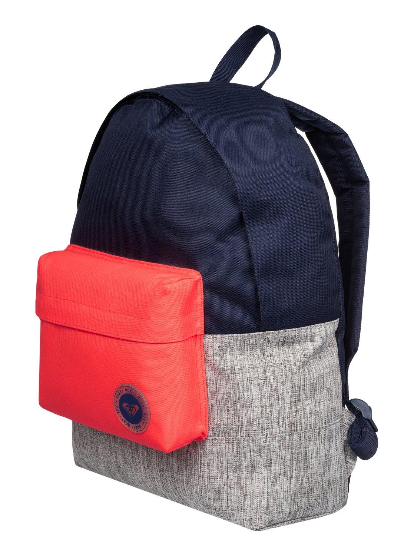 f828030a5515 1 Sugar Baby Colorblock - Medium Backpack Blue ERJBP03263 Roxy