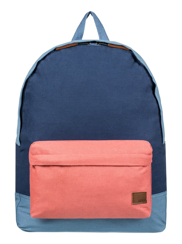 sugar baby canvas colorblock 16l small backpack erjbp03694 roxy