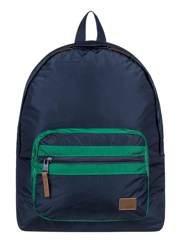 384ebdba6a 0 Morning Light Colorblock 16L Small Backpack Blue ERJBP03841 Roxy