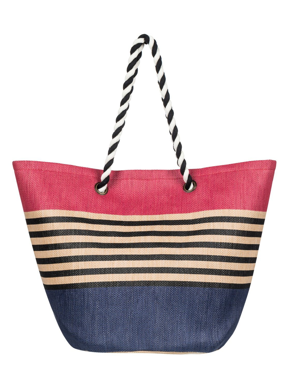 2 Sunseeker Straw Beach Bag Blue Erjbt03084 Roxy