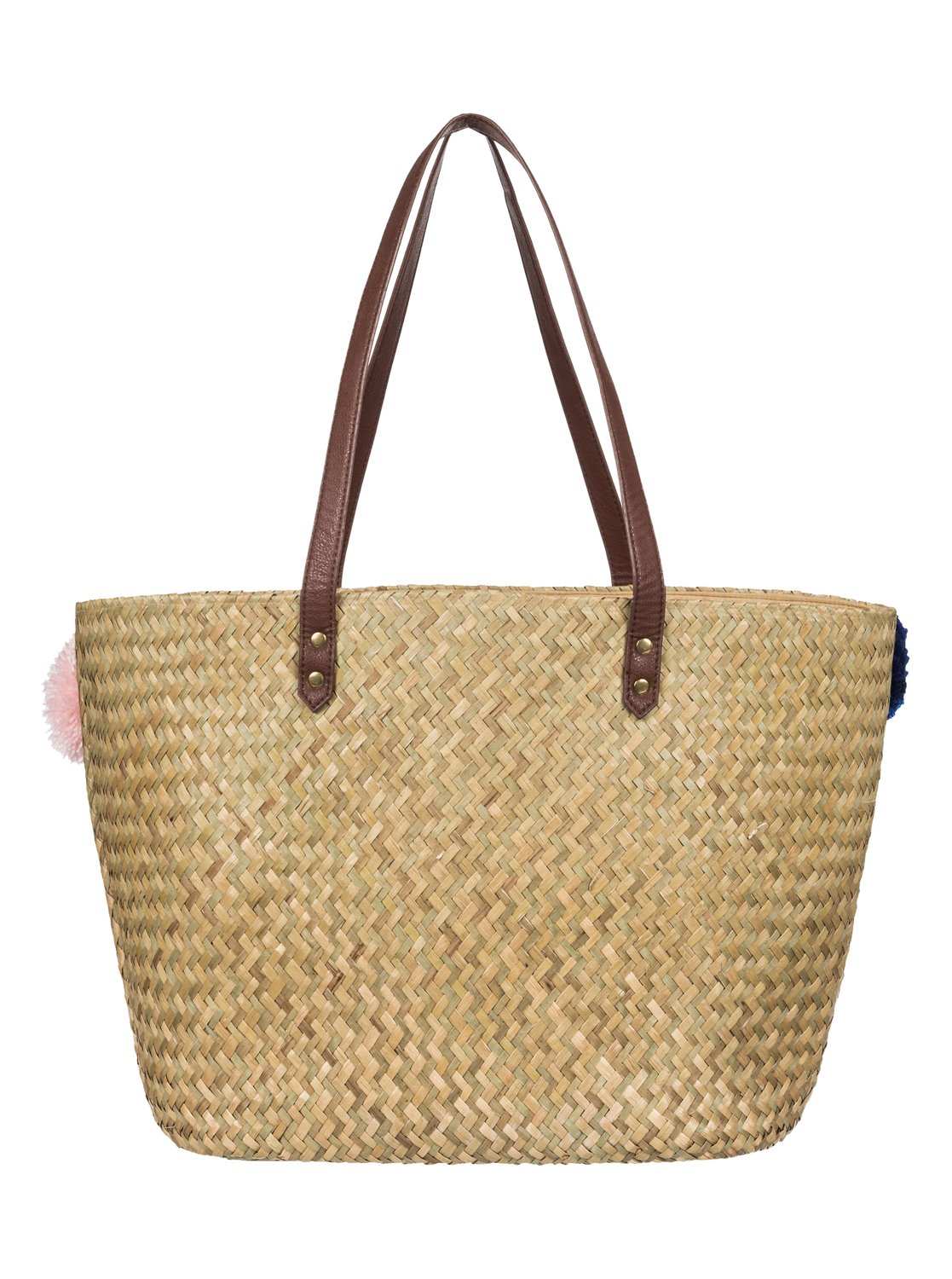 2 Pretty Love Straw Beach Bag Yellow Erjbt03087 Roxy