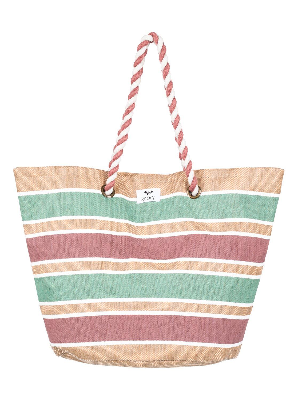 0 Sunseeker Straw Beach Bag Yellow Erjbt03101 Roxy