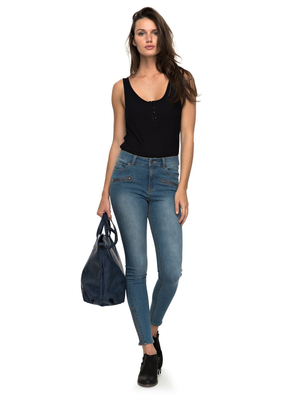 1ea5bfe167bc5 0 Night Spirit A - Jean skinny taille haute pour Femme Bleu ERJDP03162 Roxy