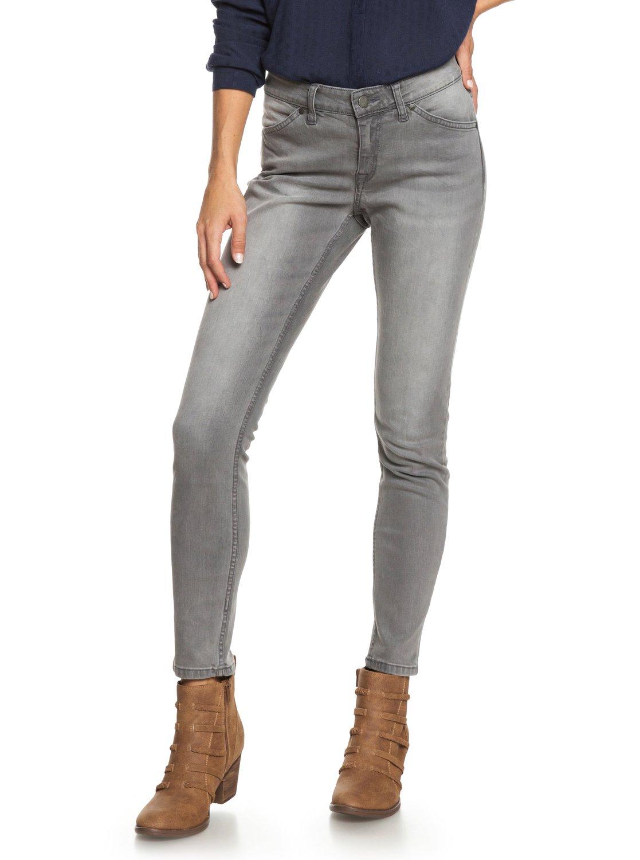 1 Seatripper Skinny Fit Jeans Grey ERJDP03200 Roxy f7fb16916b30
