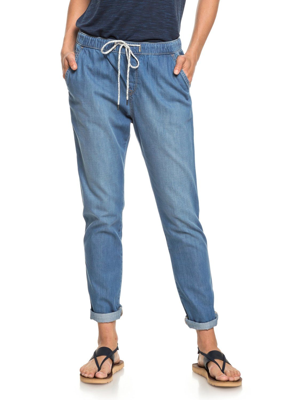 1 Beachy - Pantalon léger en denim pour Femme Bleu ERJDP03206 Roxy a8ca0e92e20