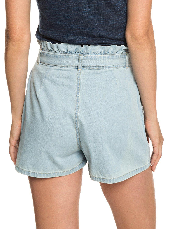3 Realestate - Short taille haute en denim pour Femme Bleu ERJDS03195 Roxy 6285bc49e8f