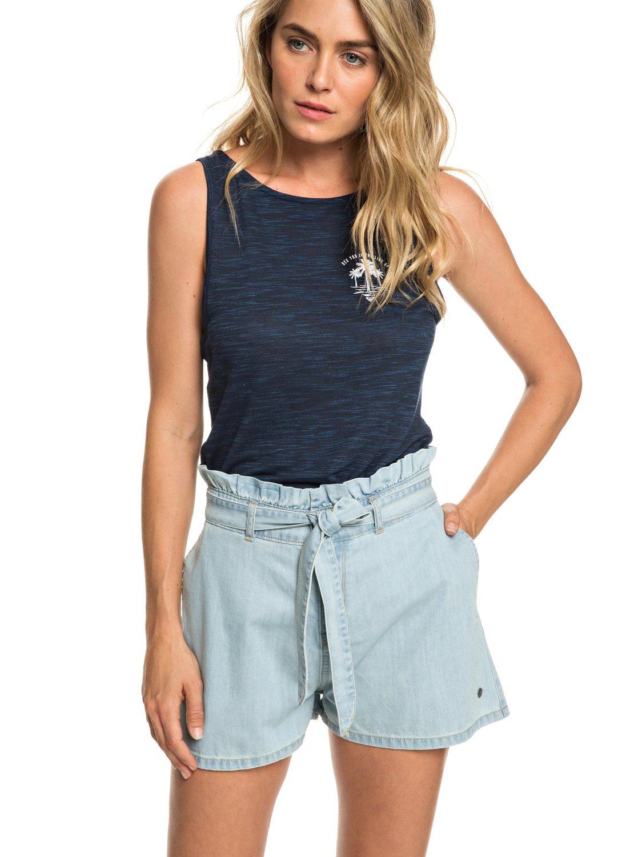 0 Realestate - Short taille haute en denim pour Femme Bleu ERJDS03195 Roxy 3fcb7325cc0