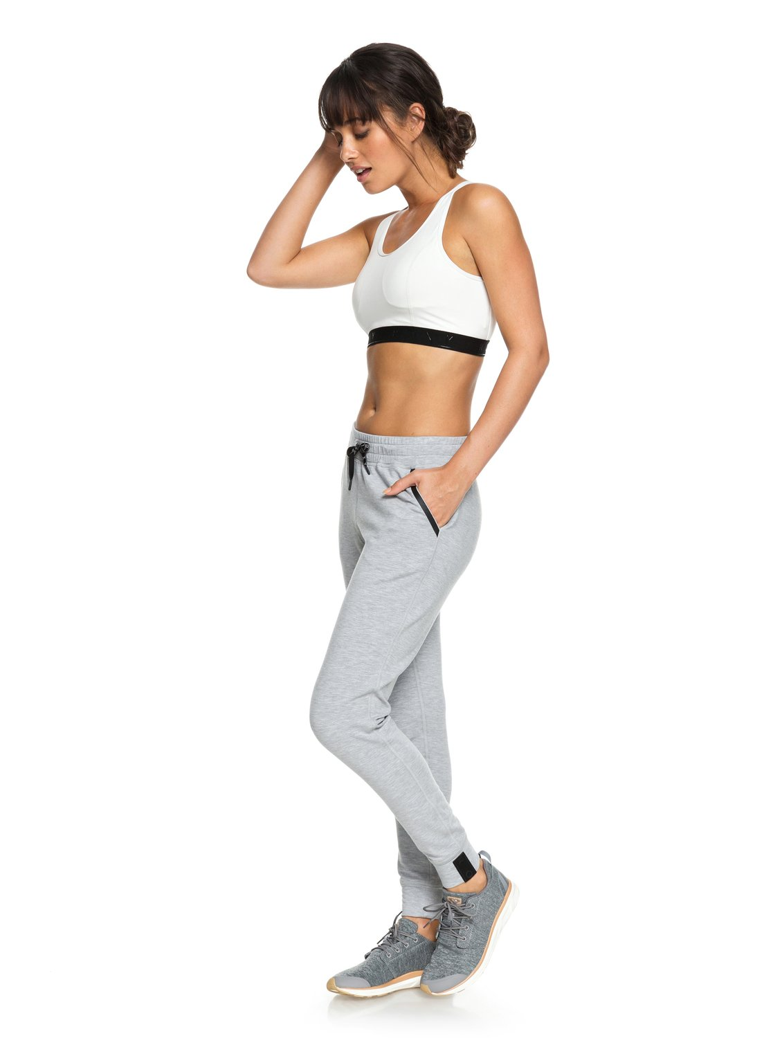 b8490ea5e62 0 Down Town With Me - Joggers for Women Grey ERJFB03183 Roxy
