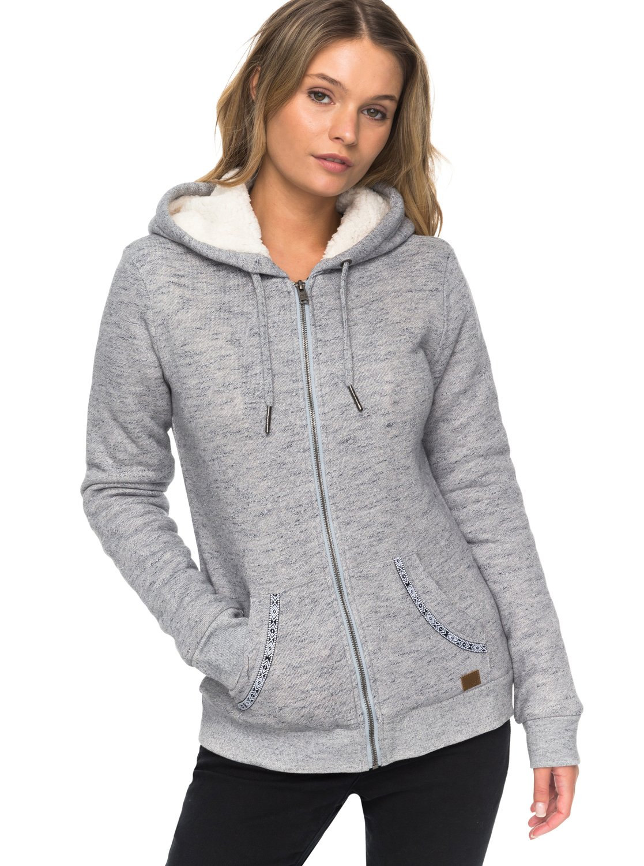Femme ERJFT03598 0 capuche zippé Sweat Sherpa pour Roxy à Bleu Trippin zwTqzr0