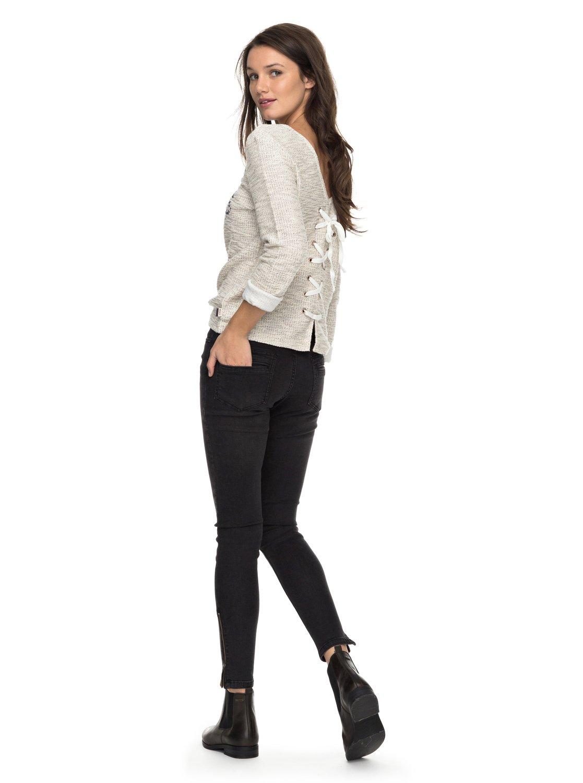 Dos 1 Roxy Sweatshirt Femme Dans Le Saturdaze Beige Lacé Erjft03603 Pour aPPr1Xq