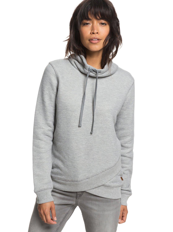 0 Change High Sweatshirt Collar Seasons Grey Roxy Erjft03808 rqBCHrwn