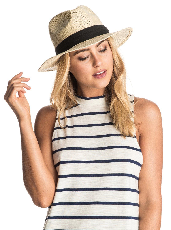 5734458dccb 1 Here We Go Straw Panama Hat ERJHA03157 Roxy