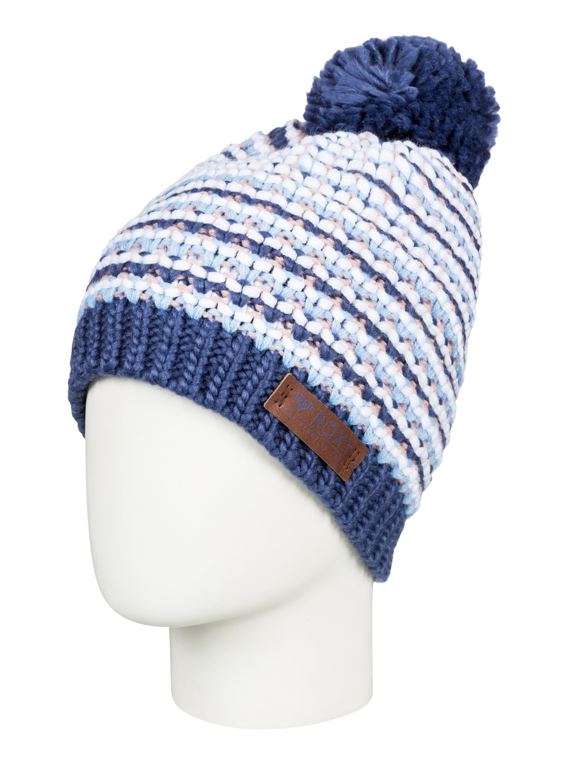f789790df 0 Anamudi - Pom-Pom Beanie for Women Blue ERJHA03409 Roxy