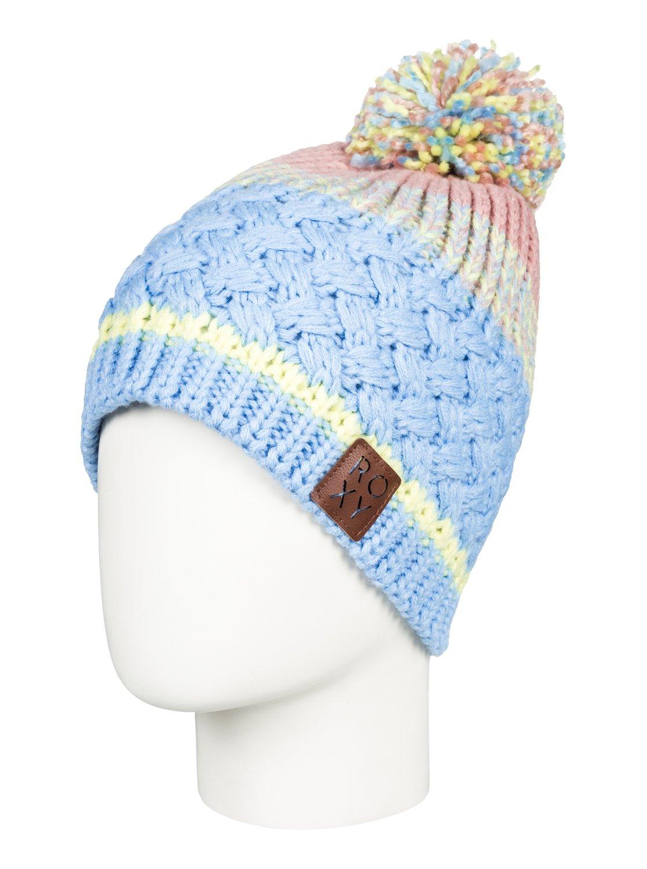 0 Hailey - Bonnet avec pompon pour Femme Bleu ERJHA03410 Roxy 3601c2d81a8
