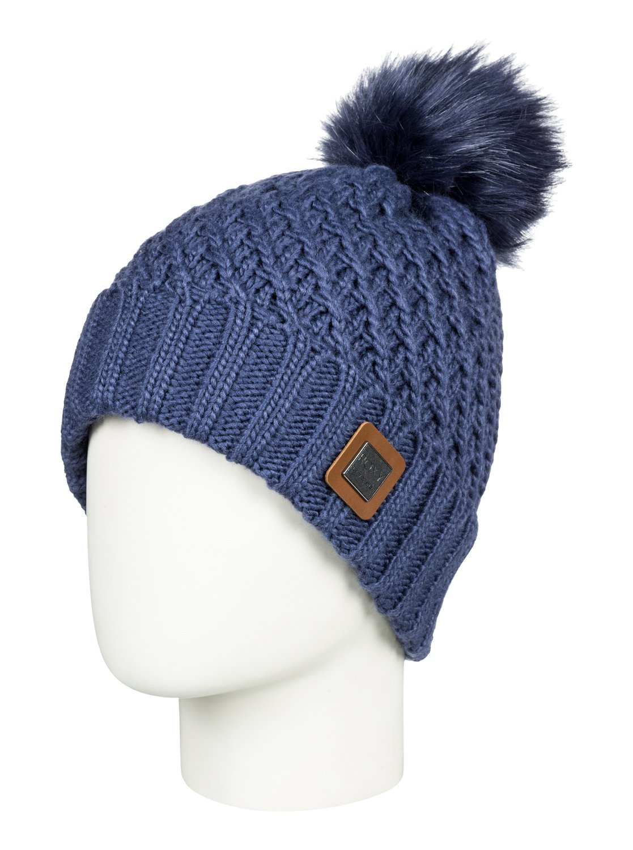 0 Blizzard - Bonnet avec pompon pour Femme Bleu ERJHA03412 Roxy dedf1943c1e