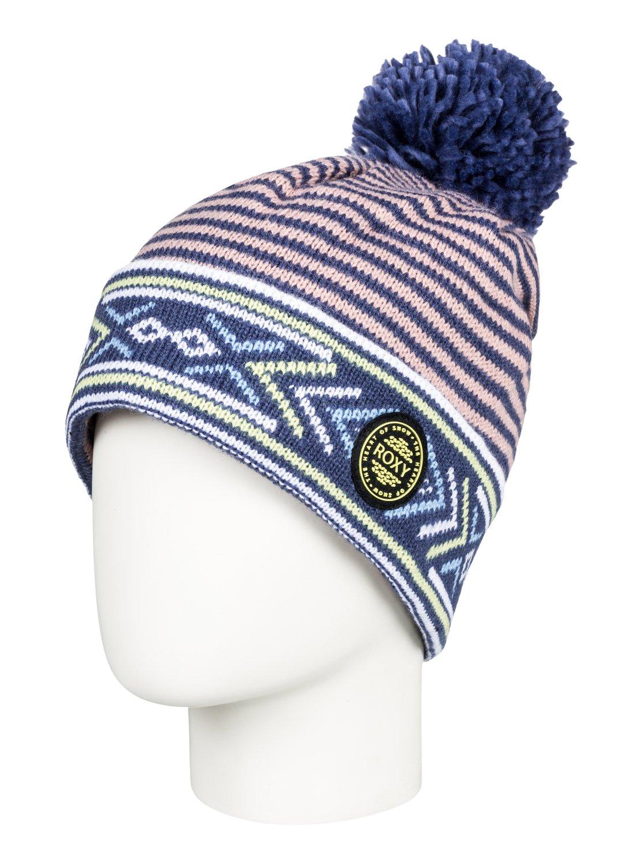 0 Joya Vale - Bonnet avec pompon pour Femme Bleu ERJHA03433 Roxy 9759afd7f7c