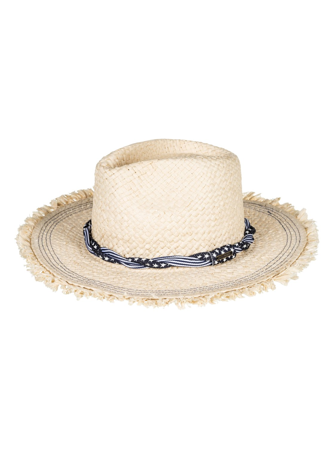 f527291c89e 0 Beach Wearing Straw Fedora Hat Yellow ERJHA03449 Roxy