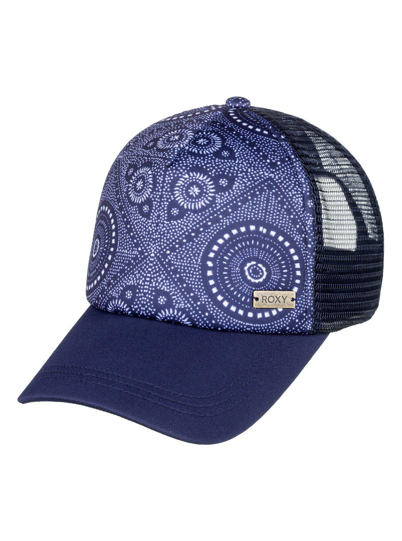 0 Water Come Down Trucker Hat Blue ERJHA03532 Roxy 6368ad227cfe