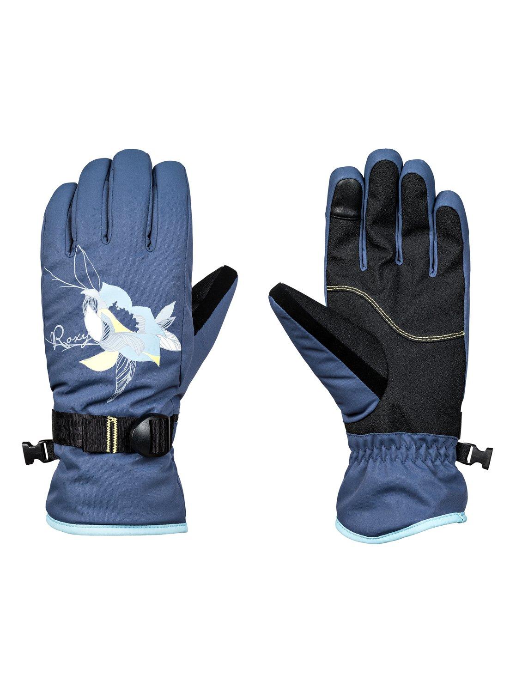 0 Freshfield - Gants de ski snowboard pour Femme Bleu ERJHN03099 Roxy 07000a04e67