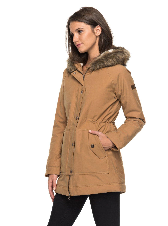 Manteau avec capuche fourrure pour femme