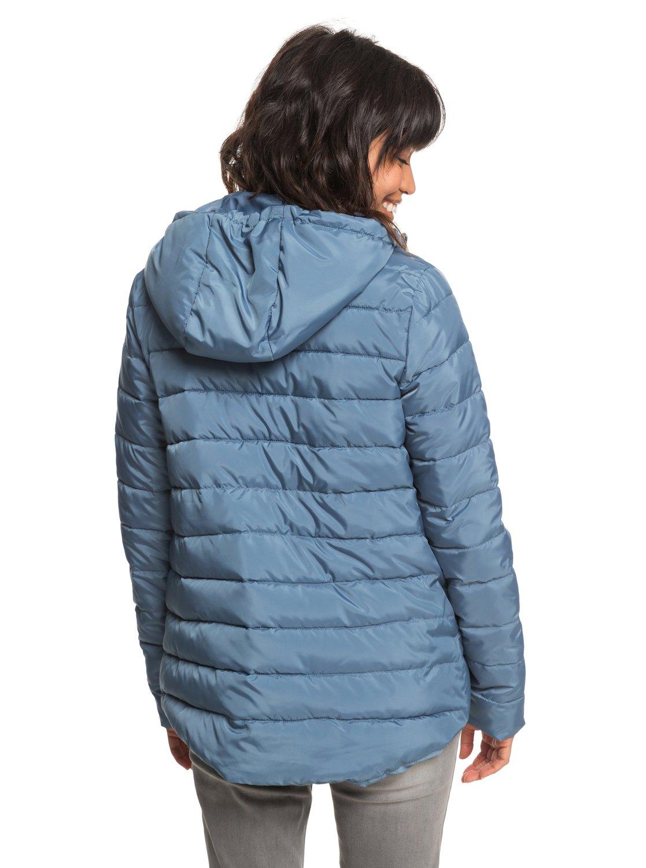3 Rock Peak - Water Repellent Padded Jacket for Women Blue ERJJK03250 Roxy df606bc64a6