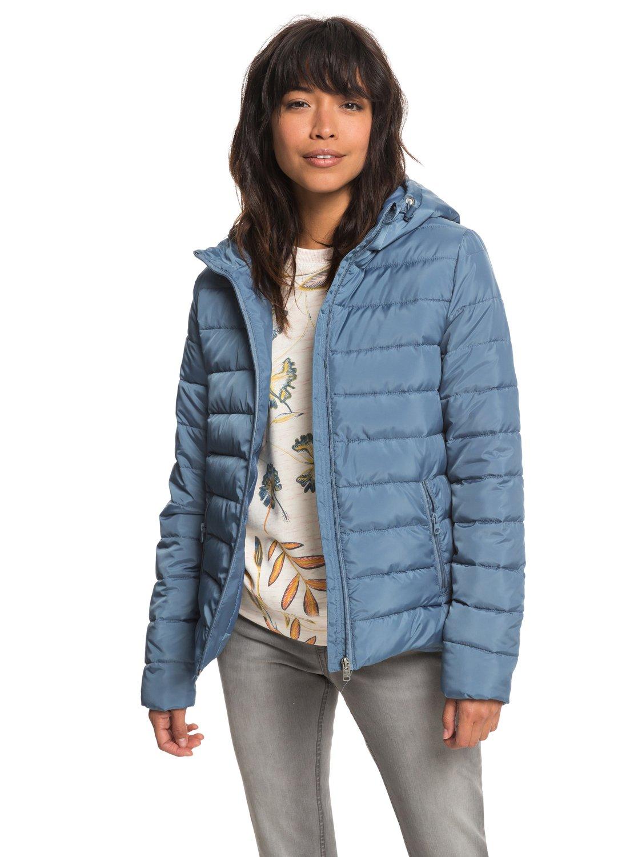 0 Rock Peak - Water Repellent Padded Jacket for Women Blue ERJJK03250 Roxy f16df0159