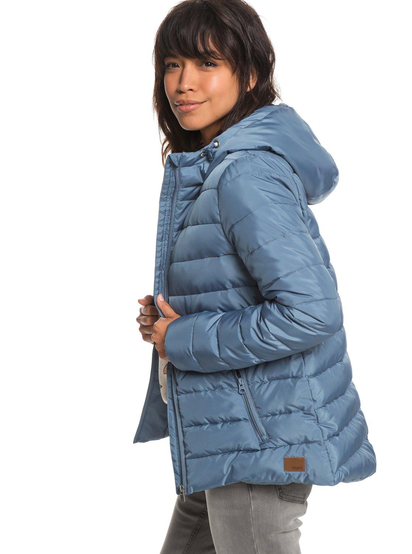 1 Rock Peak - Water Repellent Padded Jacket for Women Blue ERJJK03250 Roxy deba7f35ce4