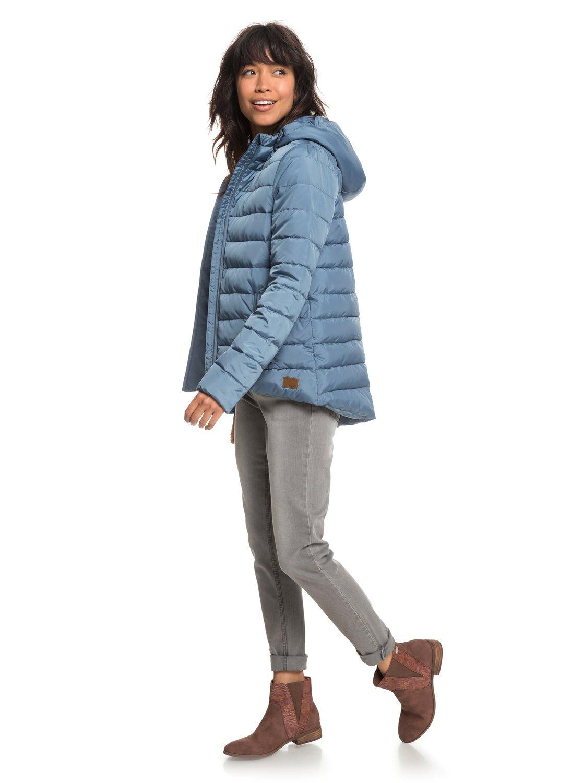 2 Rock Peak - Water Repellent Padded Jacket for Women Blue ERJJK03250 Roxy 1d86a4f2971