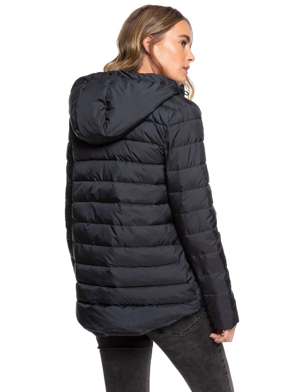 4 Rock Peak - Water Repellent Padded Jacket for Women Black ERJJK03250 Roxy a9d4b9a15e7