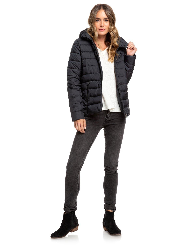 3 Rock Peak - Water Repellent Padded Jacket for Women Black ERJJK03250 Roxy 92936538a4d
