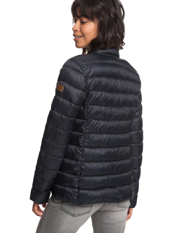 3 Endless Dreaming Packable Lightweight Puffer Jacket Black ERJJK03252 Roxy cd7e6bd9c6be