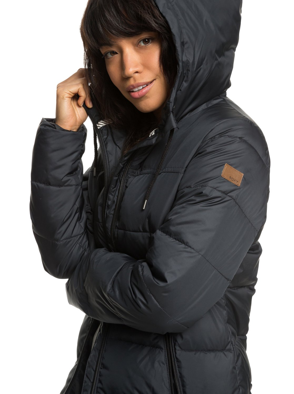 1 Harbor Days - Water Repellent Hooded Puffer Jacket for Women Black  ERJJK03254 Roxy c3781756178