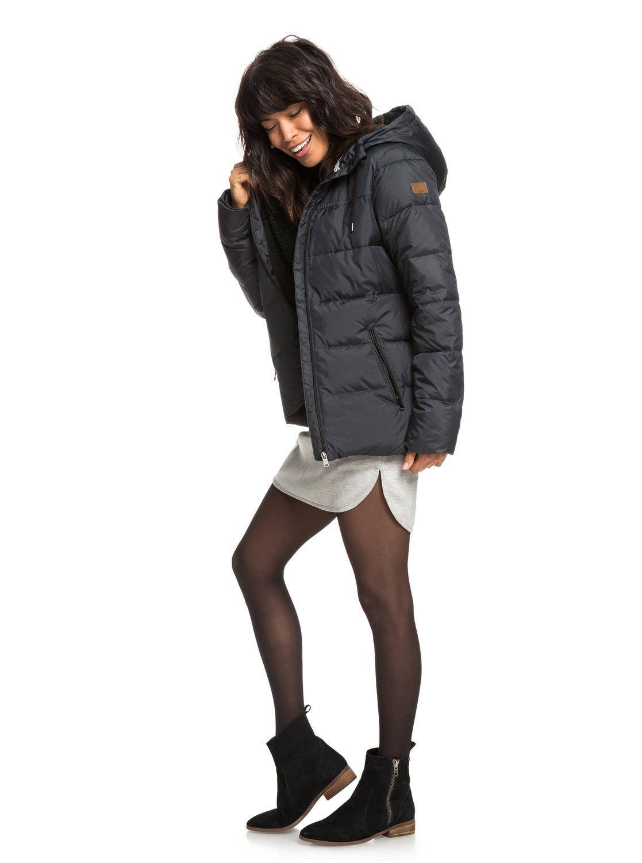 Harbor Days - Chaqueta acolchada impermeable con capucha para Mujer ...